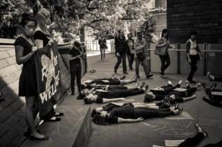 Die-In outside Lulu Campus Center