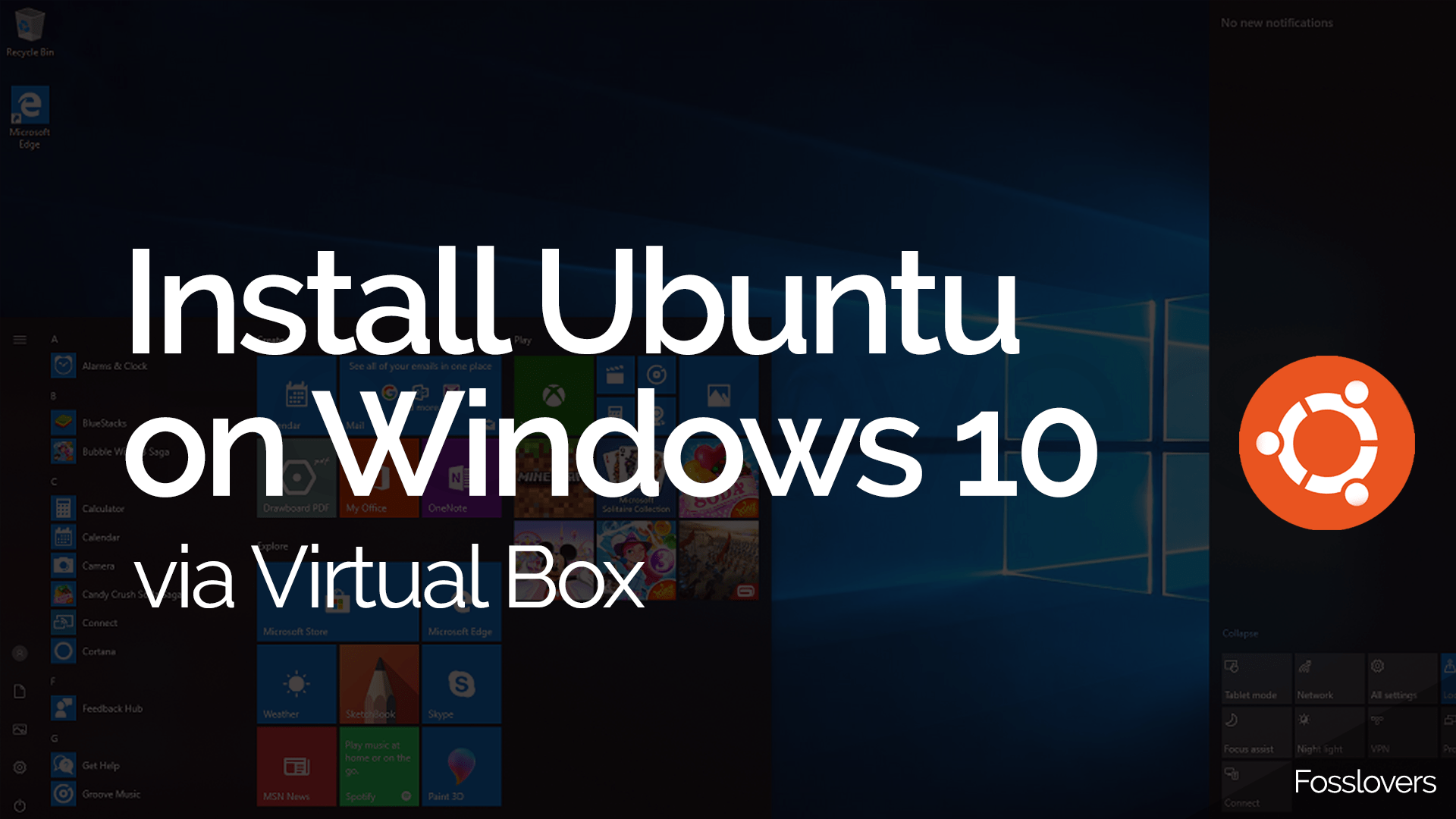 Install Ubuntu 18 04 LTS Bionic on Windows 10 via Virtual