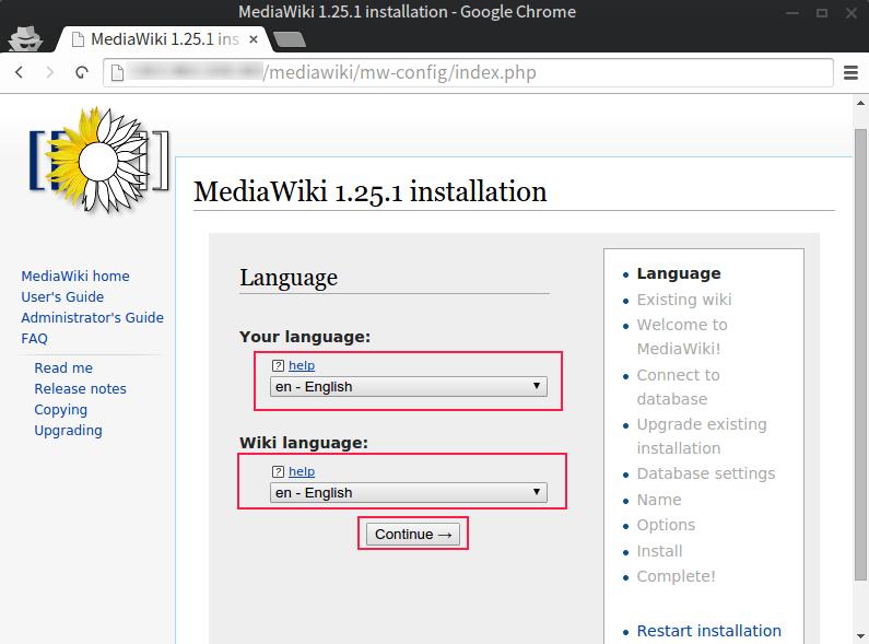 Deploying MediaWiki with MariaDB on Fedora 22 3