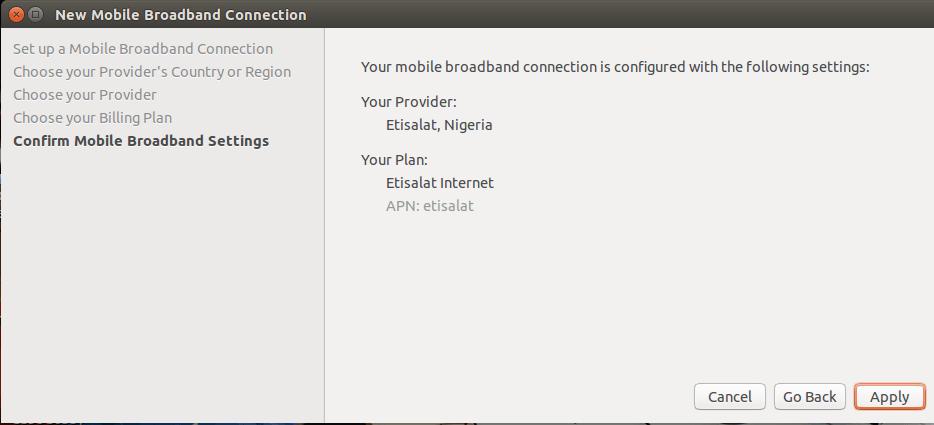 Browsing on Ubuntu Linux with Etisalat USB modem - Foss Naija