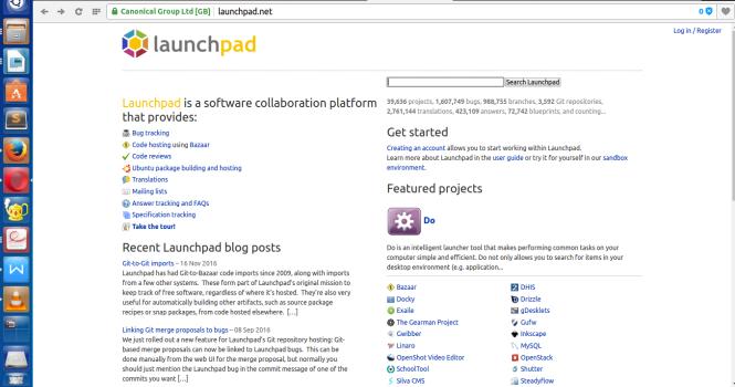 launchpad homepage