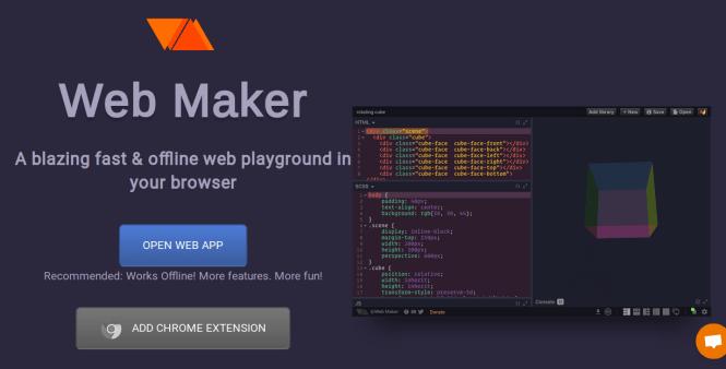 webmaker app home-page