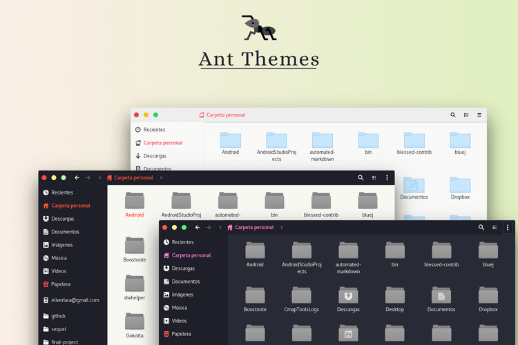 Ant Themes Screenshot for Linux