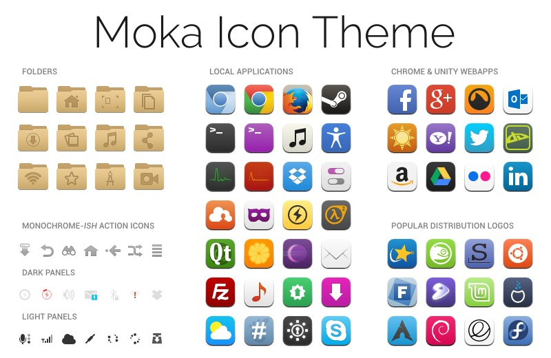 Moka Icon Theme Screenshot