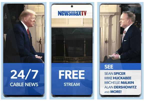 Newsmax TV app on Windows