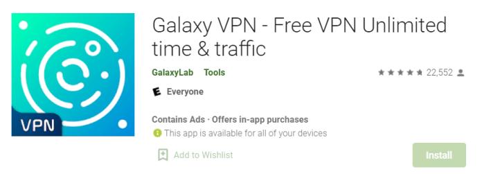 Galaxy VPN for Mac