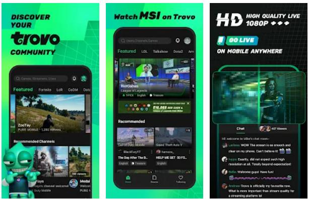 Trovo Live app on Windows
