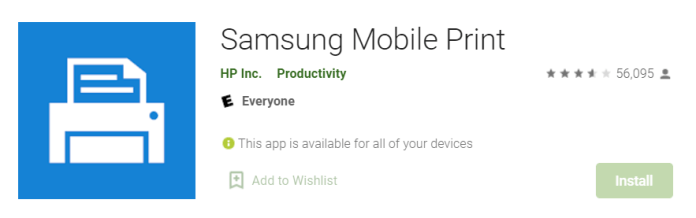 Samsung Mobile Print for Mac