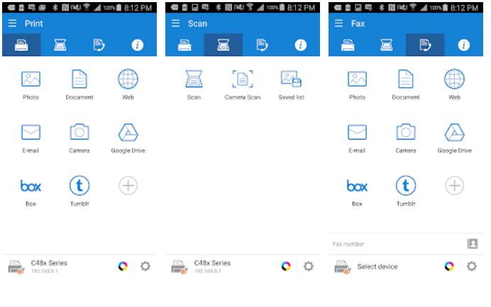 Samsung Mobile Print app on Windows
