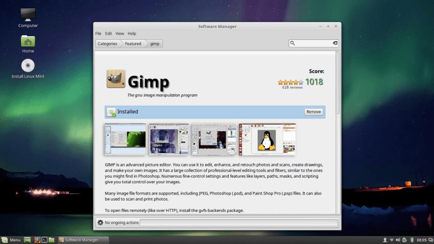 A program in Mint Software Center