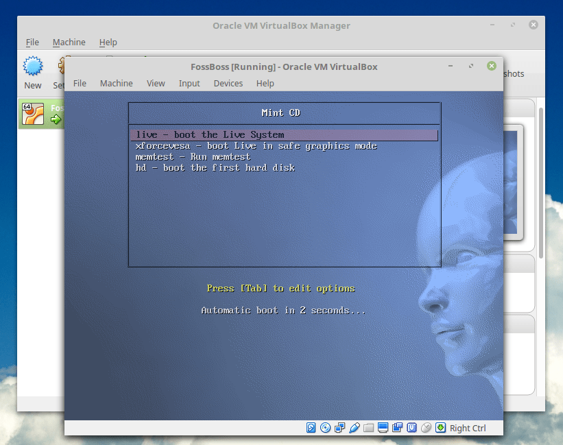 Testing the ISO file using VirtualBox
