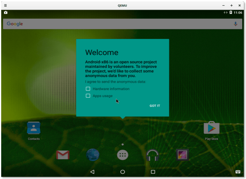 Android 6.0 Marshmallow on Linux