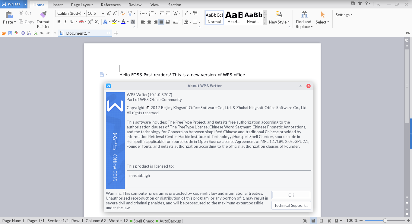 A New Version Of WPS Office For Linux Was Just Released