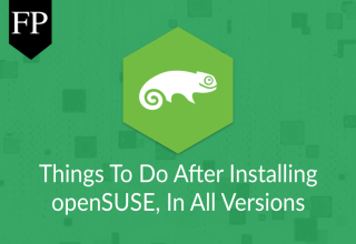 Things To Do After Installing openSUSE 25
