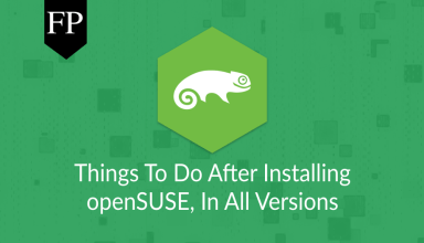 Things To Do After Installing openSUSE 1 things to do after installing opensuse