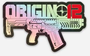 Origin 12 Holographic Sticker