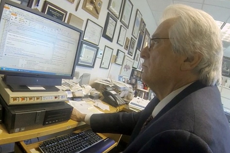 Michael Nash in his office computer in 2014