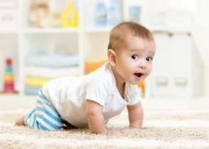 Crawling Baby foster city pediatrics
