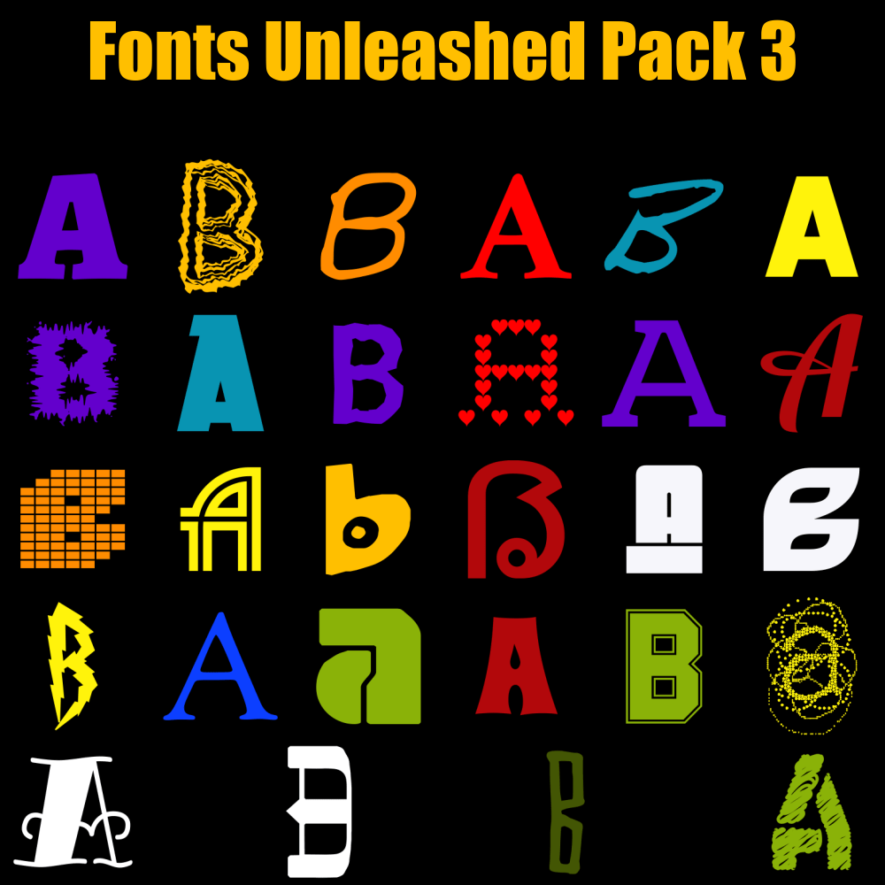Fonts Unleashed Pack 03