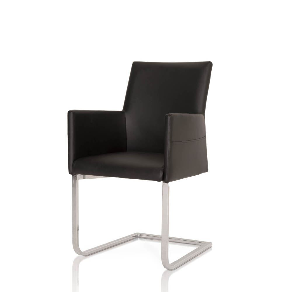 Black Leather Dining Chairs Star International Bo Dining Chair In Black Leather