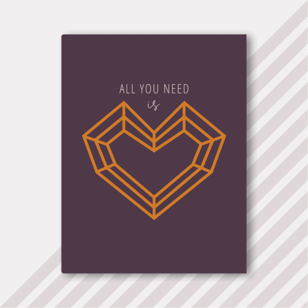 Foster The Love - Plum Notebook - All You Need Is Love