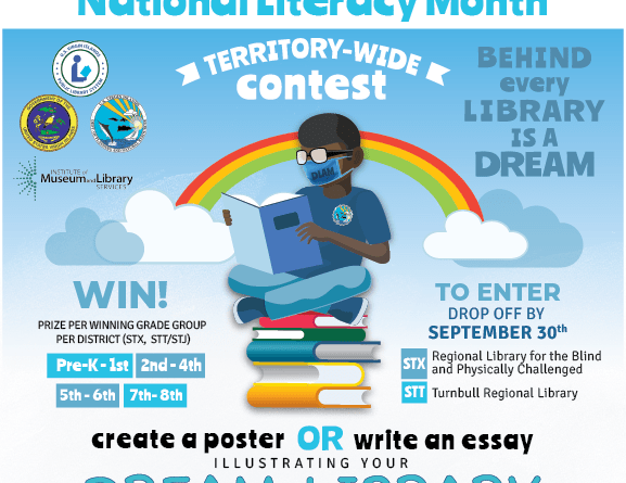 dream library contest poster