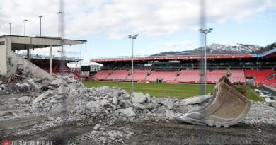 Nye bilder av Stadion-rivingen