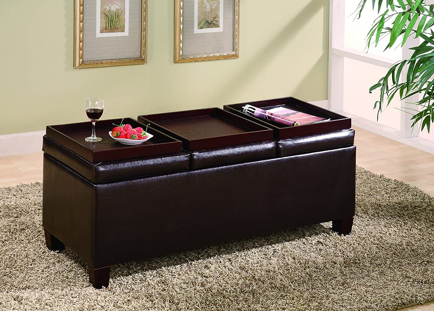 large round tray for ottoman ideas on