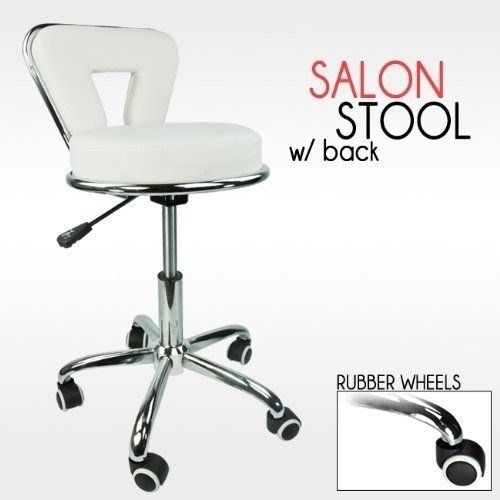 revolving chair for doctor leather and a half stools with wheels ideas on foter professional working stool dentist salon spa barber white pu