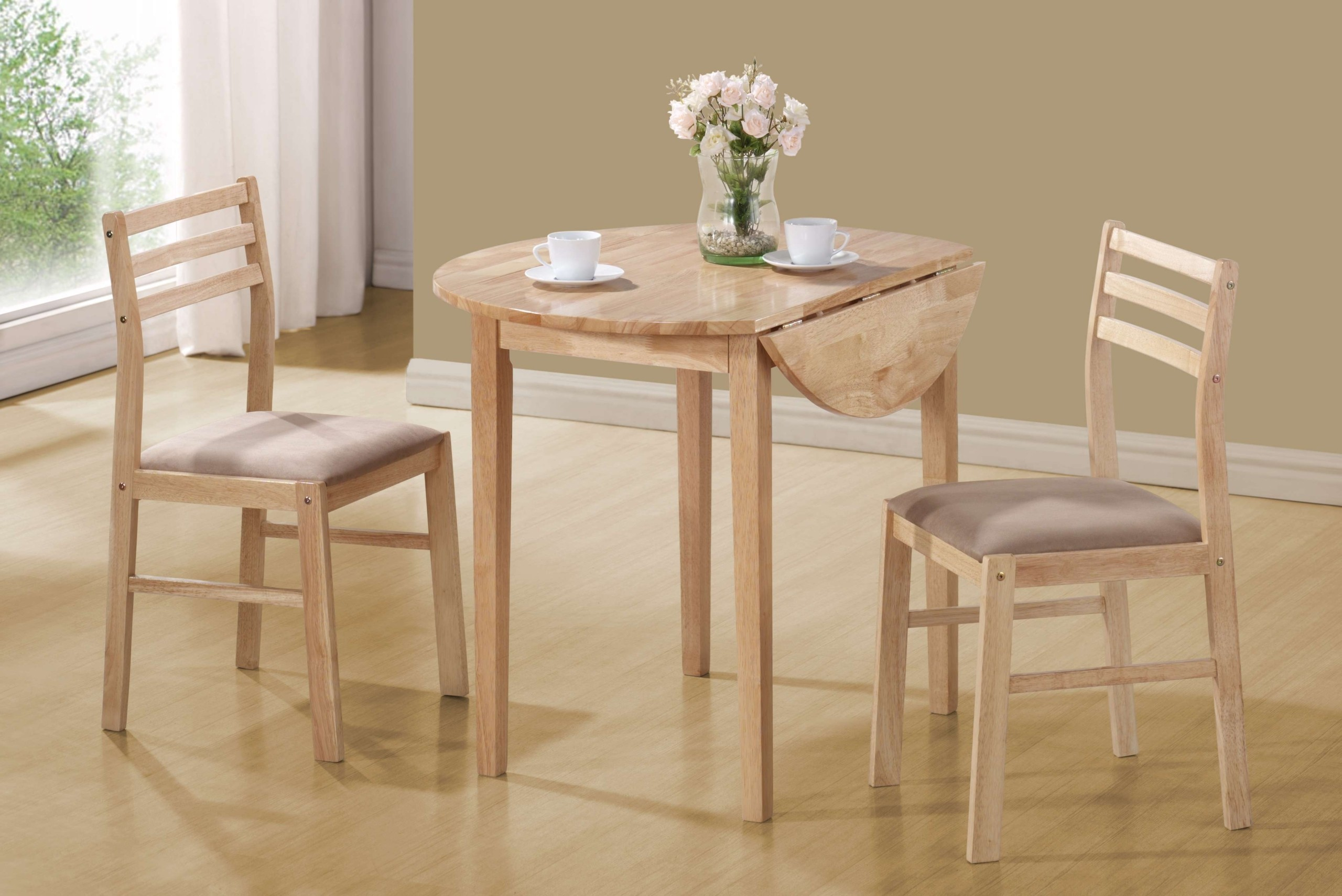 kitchen dinette set brass pulls sets for small spaces ideas on foter coaster 3pc table and chairs in natural finish