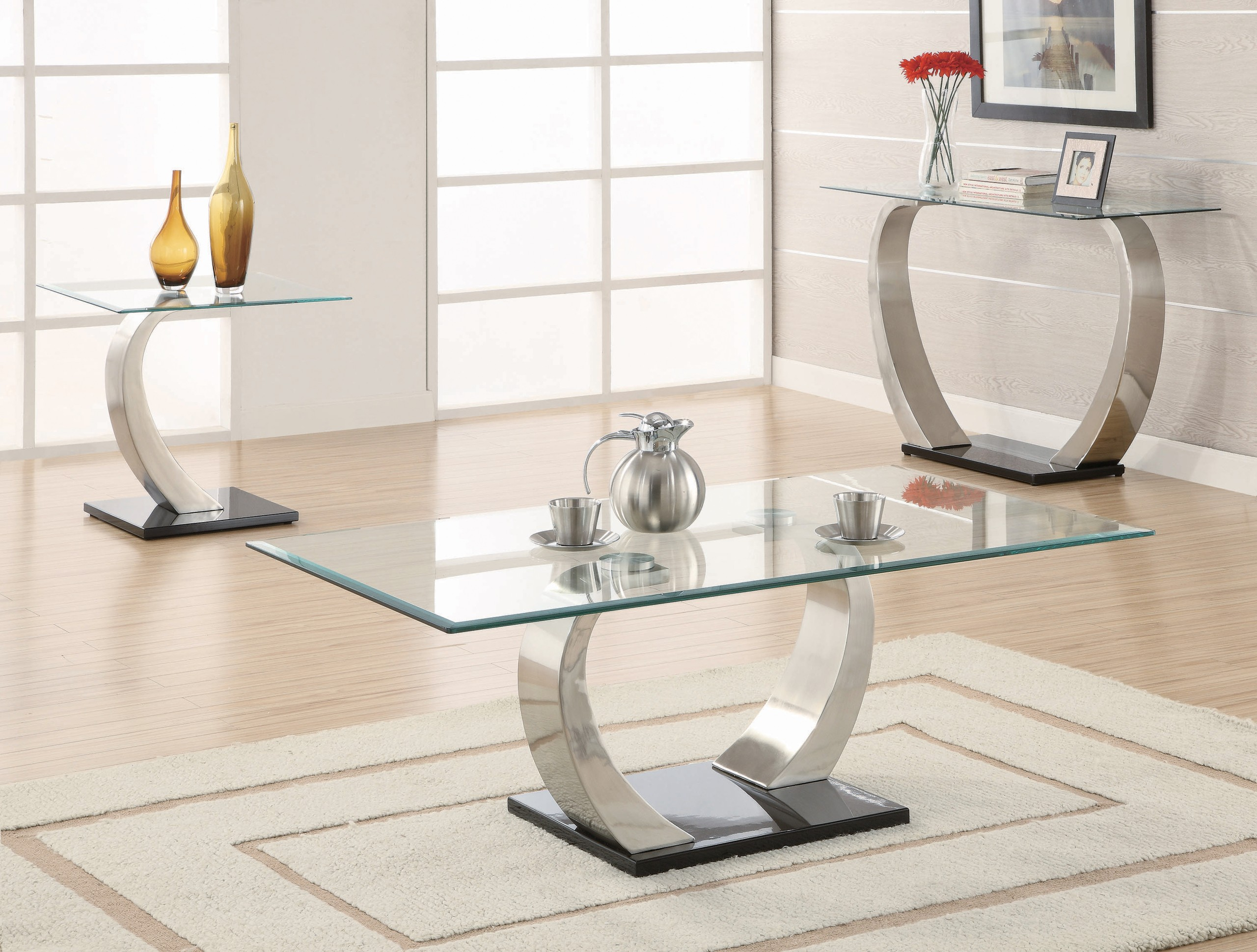 glass chrome coffee table ideas on foter