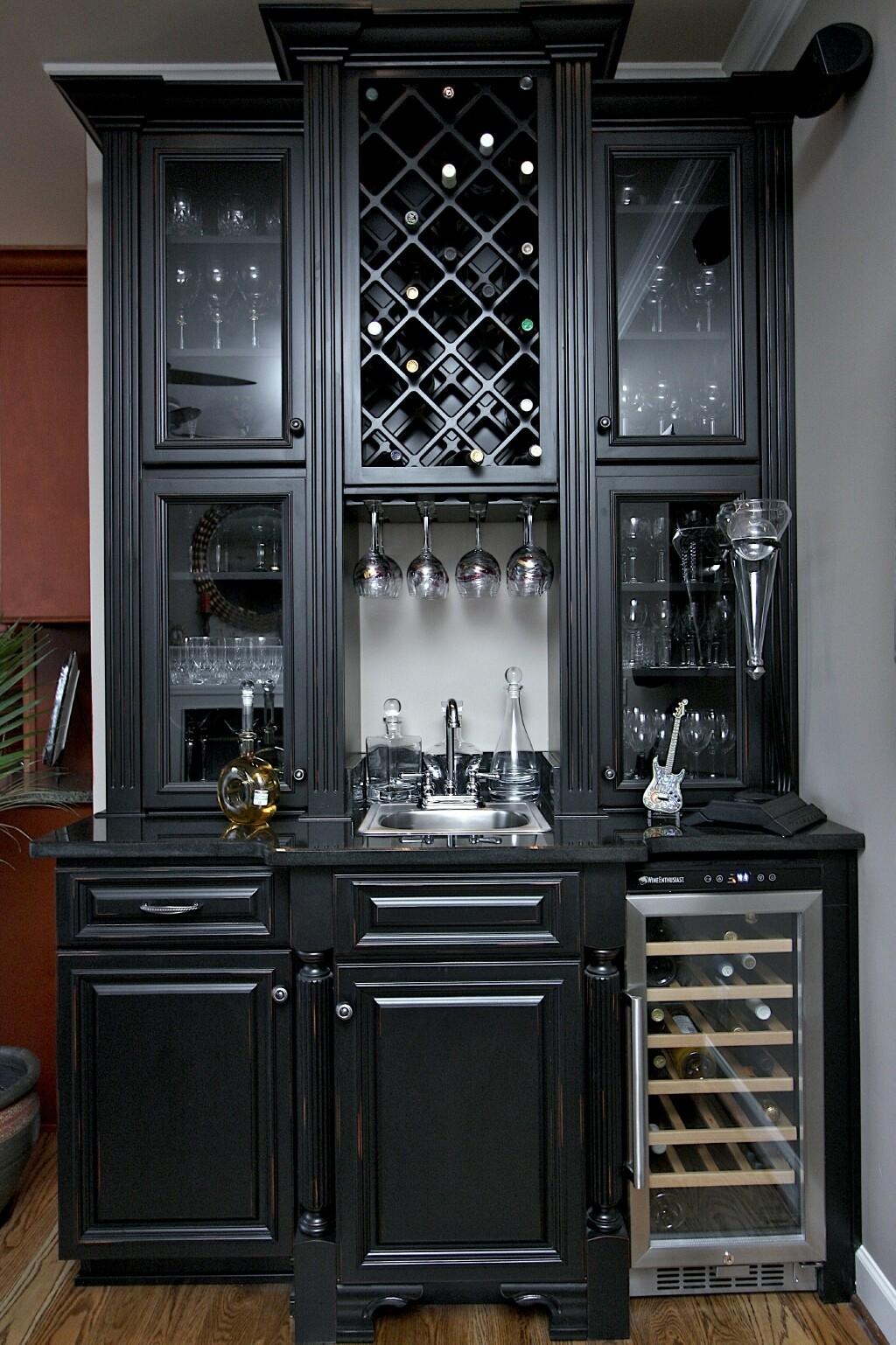 bar cabinet with wine fridge ideas on