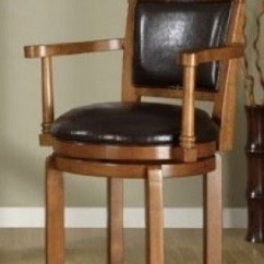 Revolving Chair Features 22 Inch Seat Height Wood Swivel Bar Stools With Arms - Foter
