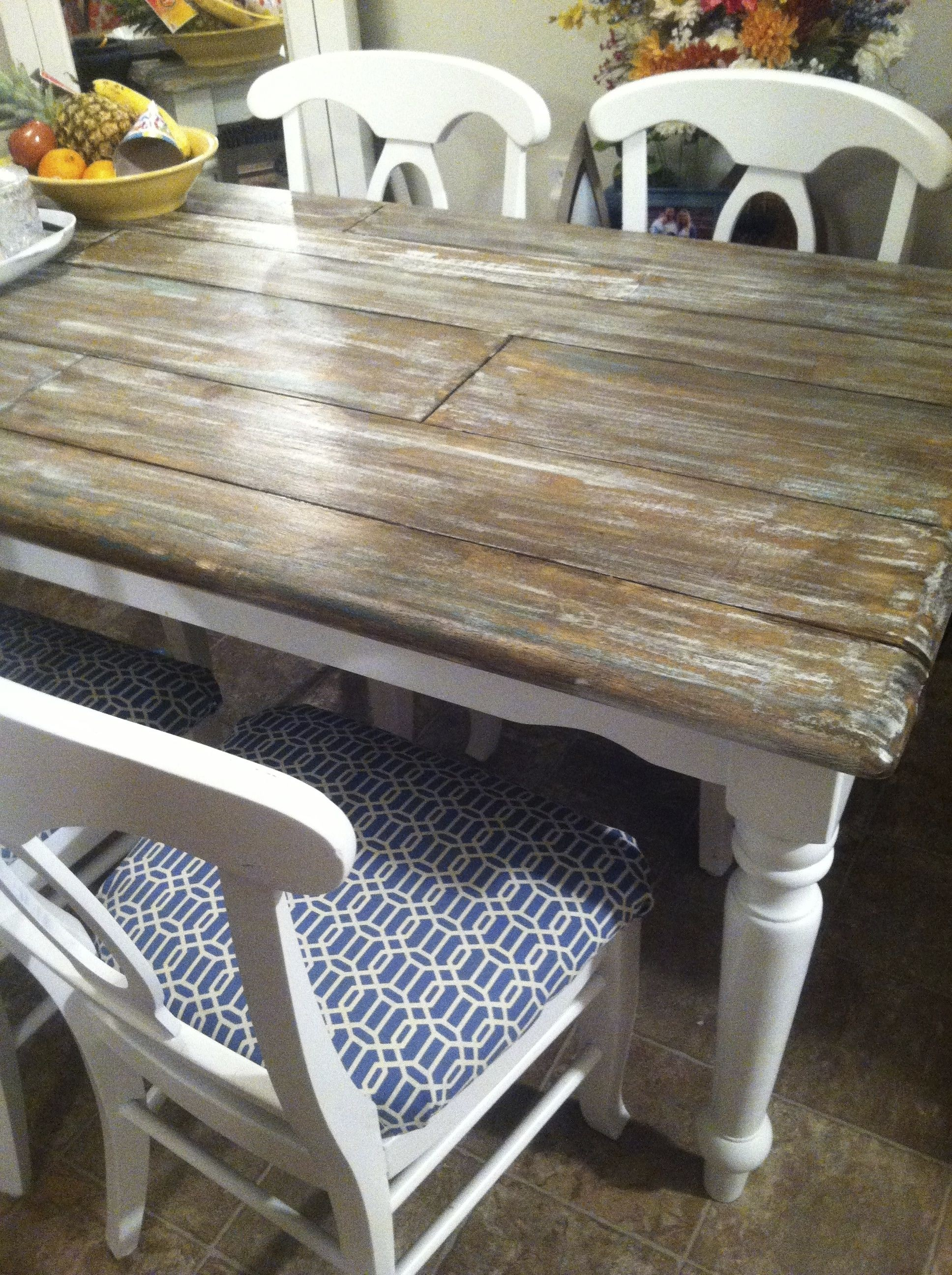 wooden kitchen table round sets distressed wood tables ideas on foter