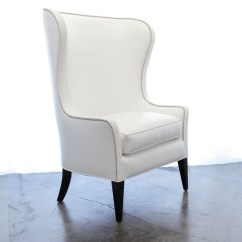 White Leather Wingback Chair Baby Travel Ideas On Foter