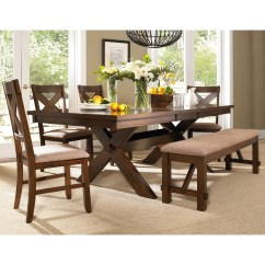 Kitchen Table With Bench And Chairs Replacement Drawer Box Dining Ideas On Foter Roundhill Furniture 6 Piece Karven Solid Wood Set 4