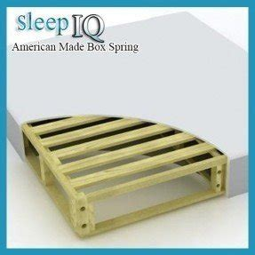 Sleep Iq Premium Box Spring Great Memory Foam Mattress Foundation Twin Size