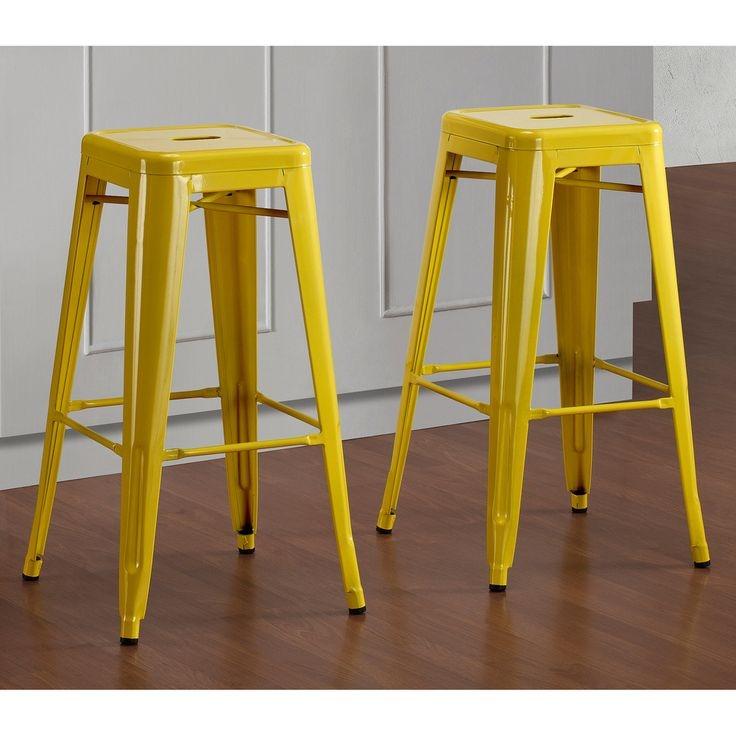 tabouret 30 inch lemon metal bar stools 36700437 9283123 set of 2