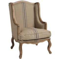Country Style Wingback Chairs Tabletop High Chair Recall French Upholstered Ideas On Foter Chic Cream Taupe Fabric Wing Back Armchair