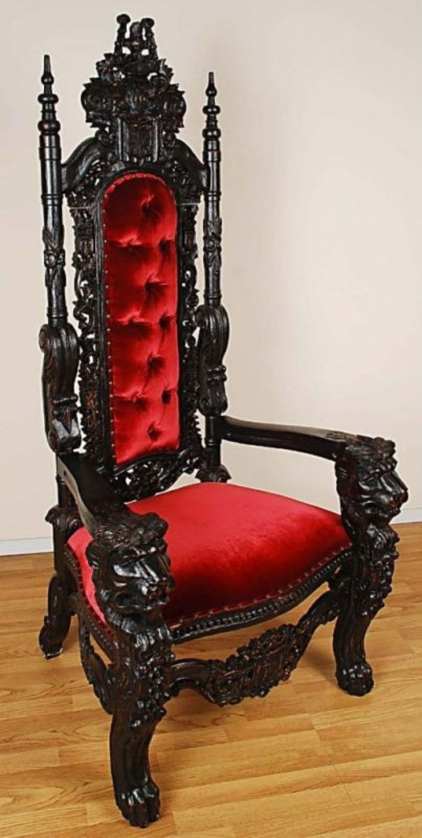 black gothic throne chair covers wedding au ideas on foter carved mahogany lion head king finish