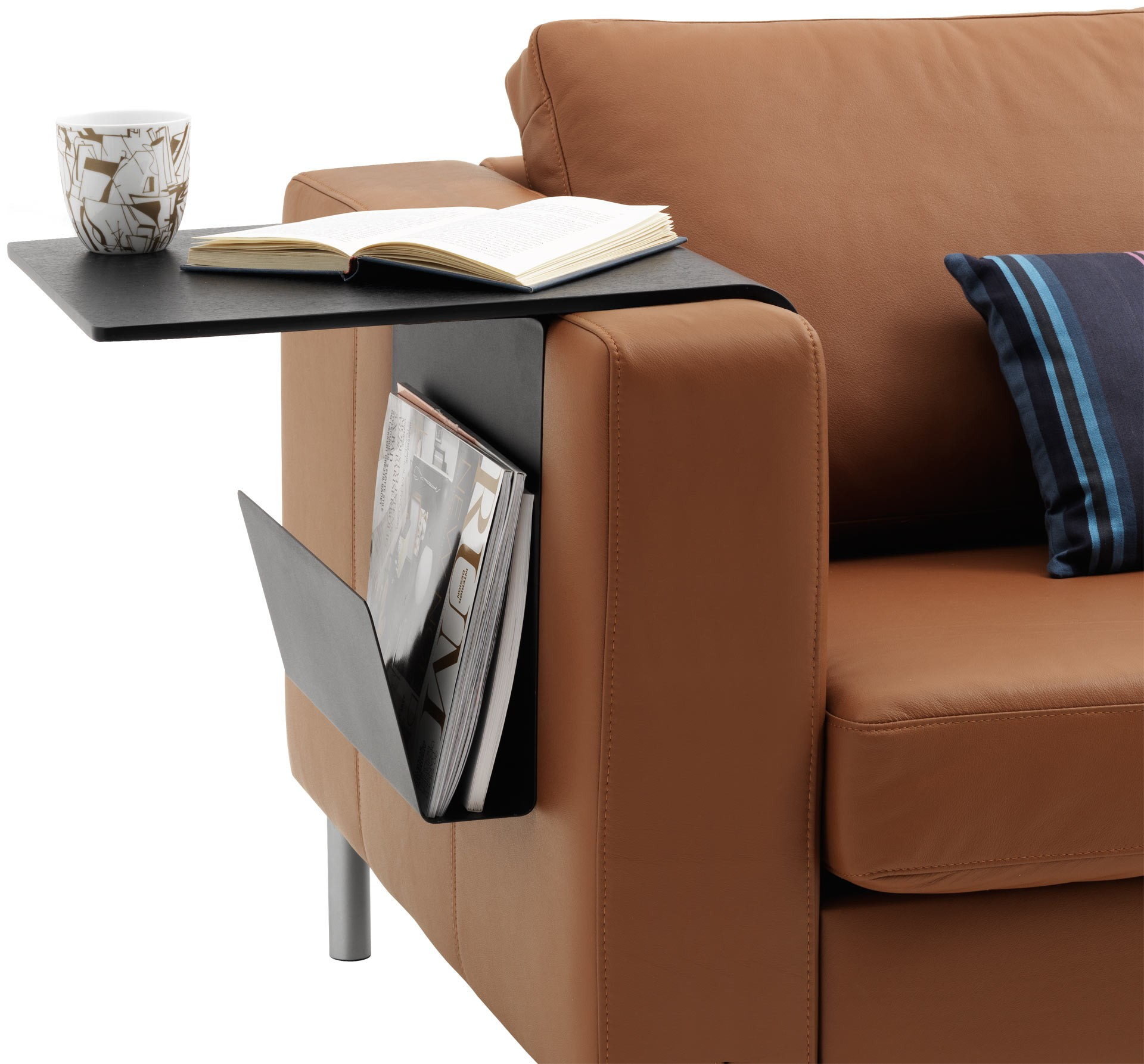 chair arm table attachment slip cover and ottoman sofa tray ideas on foter couch wrap