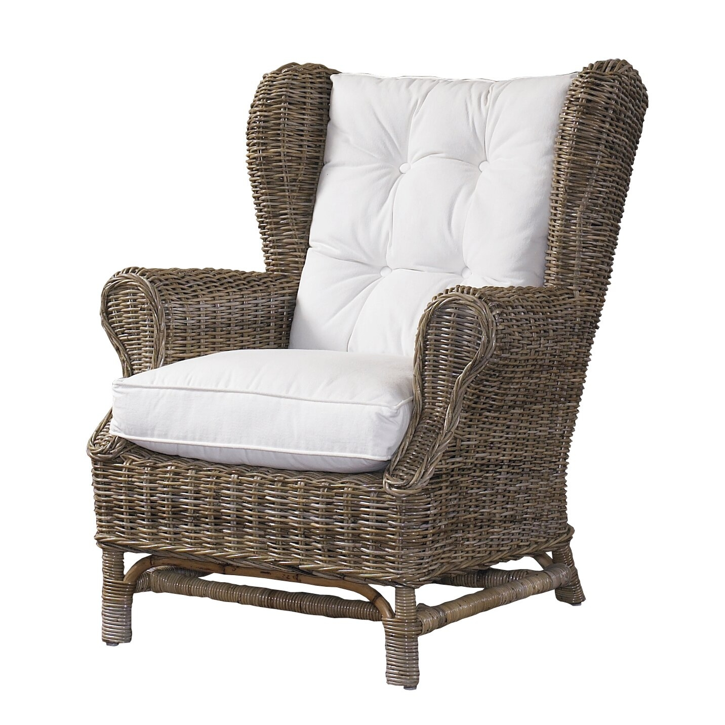 comfortable wicker chairs steamer chair cushions outdoor arm ideas on foter northern nautical padmas plantation kubu wingback