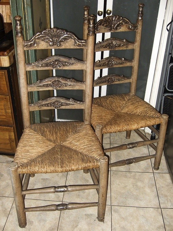 rush seat chairs best space saver high chair ladder back seats ideas on foter
