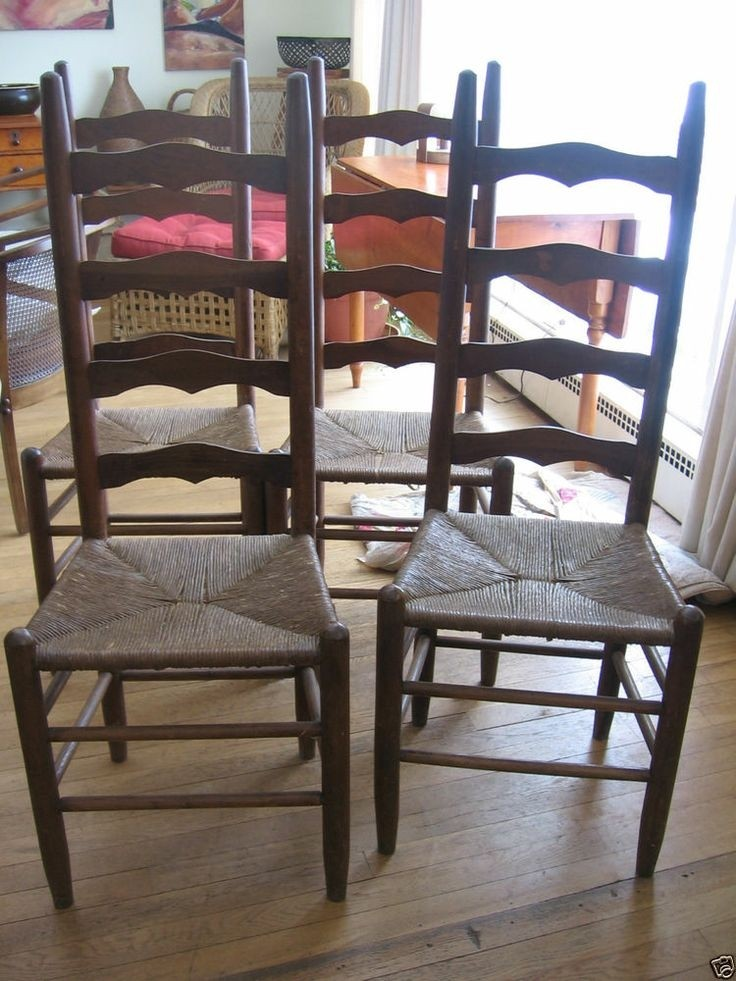 antique ladder back chairs with rush seats dunlop fishing chair ideas on foter set of 4 wood rustic
