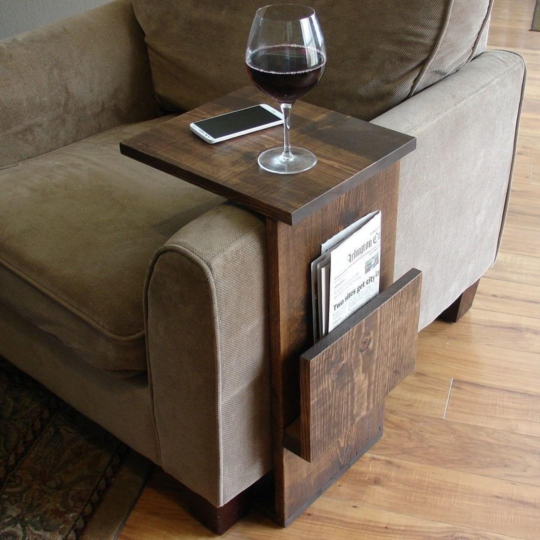 sofa arm tray ideas
