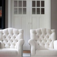 White Tufted Chair Back Support For Chairs Arm Ideas On Foter 2