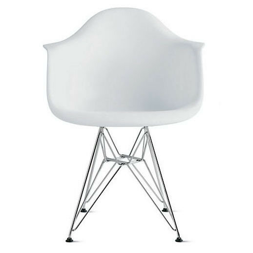eames style plastic chair foldable papasan molded arm ideas on foter 2xhome white armchair with eiffel legs dinning wire