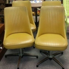 Chromcraft Furniture Kitchen Chair With Wheels Large Trash Can Ideas On Foter 4 Vintage Retro Yellow Dining Chairs Funky Solid
