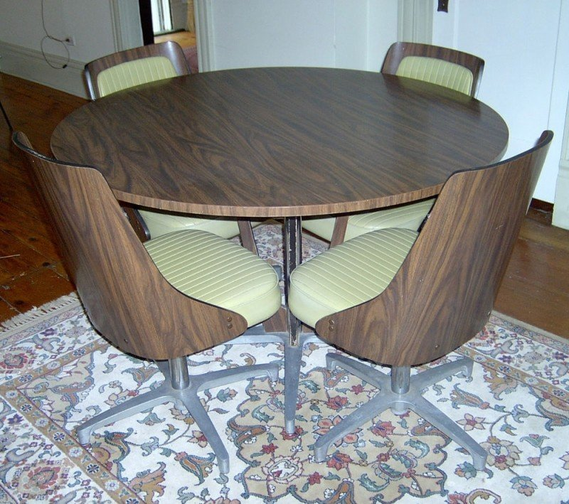 chromcraft furniture kitchen chair with wheels aid coffee maker dinette chairs ideas on foter set 4 swivel 1960s 70 mid