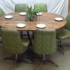 Kitchen Table And Chairs With Wheels Cloth High Chair Chromcraft Dinette Ideas On Foter 6 Mid Century 60s 70s Green Dining